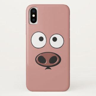 Coque iPhone X Porc drôle