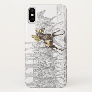 Coque iPhone X Porte démarrante de course de cheval