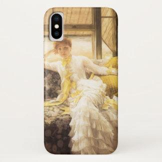 Coque iPhone X Portrait vintage, ressort (bord de la mer) par