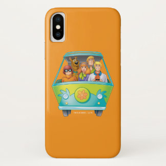 Coque iPhone X Pose 25 d'aerographe de Scooby Doo