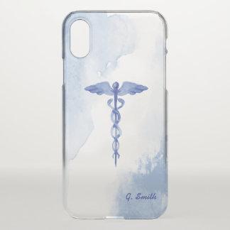 Coque iPhone X Pour des médecins et des infirmières. Watercolor.