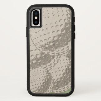 Coque iPhone X Pour lui iPhone graphique moderne de boule de golf