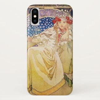 Coque iPhone X Princesse Hyacinth Art Nouveau d'Alphonse Mucha
