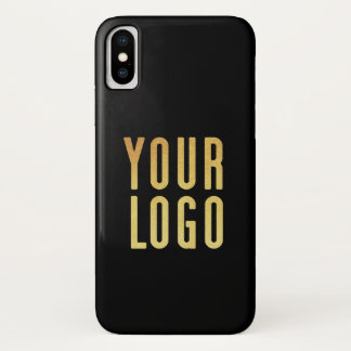 Coque iPhone X Promotional Your Company ou noir de logo