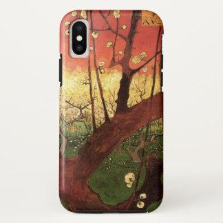 Coque iPhone X Prunier fleurissant japonais de Van Gogh,