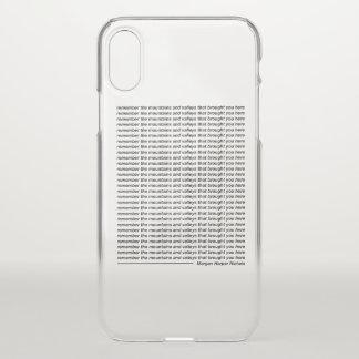 Coque iPhone X Rappelez-vous les montagnes et les vallées