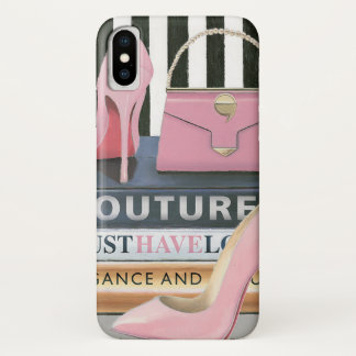 Coque iPhone X Rayures de couture d'Apple sauvage | - chaussures