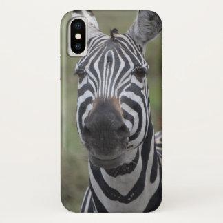 Coque iPhone X Rayures de zèbre