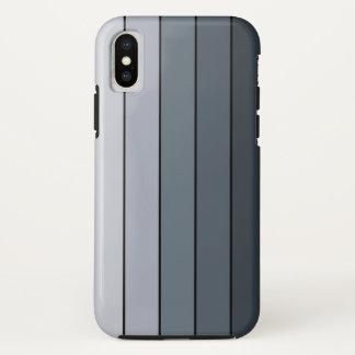 Coque iPhone X Rayures modernes à la mode de gris de l'espace