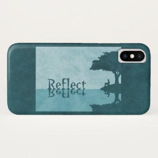 Coque iPhone X Reflétez juste le Coque-Compagnon d'iPhone