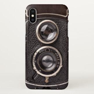 Coque iPhone X Regard vintage d'antiquité d'appareil-photo