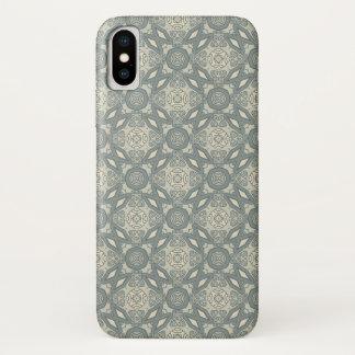 Coque iPhone X Rétro arrière - plan coloré 5 de motif