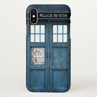 Coque iPhone X Rétro cabine téléphonique d'appel téléphonique