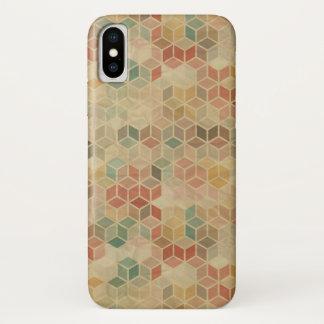Coque iPhone X Rétro motif géométrique 5