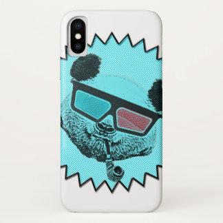 Coque iPhone X Rétro panda drôle