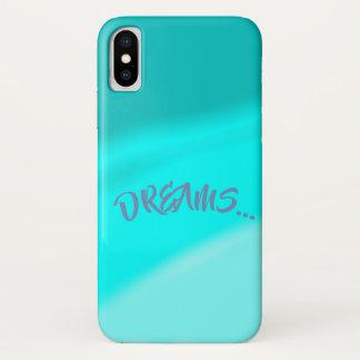 Coque iPhone X Rêves dans le bleu