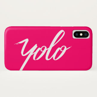 Coque iPhone X Rose de YOLO
