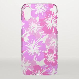 Coque iPhone X Rose floral hawaïen de ketmie épique Aloha -