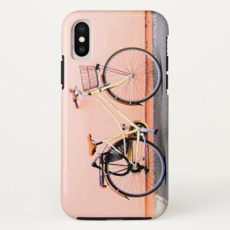 Coque iPhone X Roue de la bicyclette deux de panier de vélo de