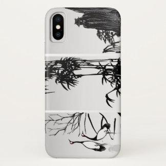 Coque iPhone X Rouleau oriental vertical