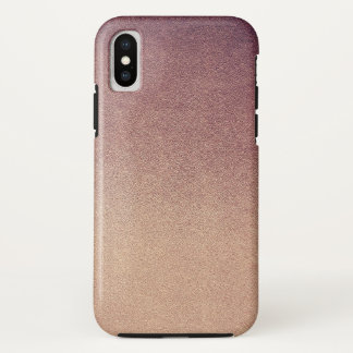 Coque iPhone X Sable rose de parties scintillantes d'Ombre d'or