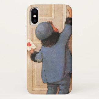 Coque iPhone X Saint-Valentin mignonne vintage, courrier de