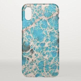 Coque iPhone X Série de pierre gemme - feuille de route de