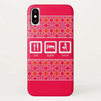 Coque iPhone X Shopaholic drôle rose mangent la récompense de