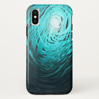 Coque iPhone X Spiral2 Aqua complexe - cas de l'iPhone X d'Apple