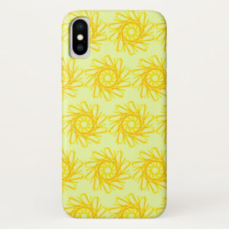 Coque iPhone X Spirales d'or