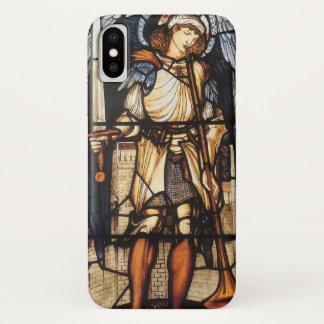 Coque iPhone X St Michael par Burne Jones, Arkhangel vintage