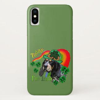 Coque iPhone X St patrick de Coonhound de Bluetick