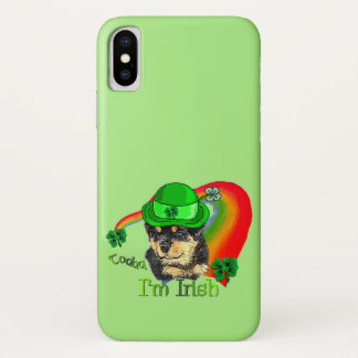Coque iPhone X St Pattys de chiot de rottweiler