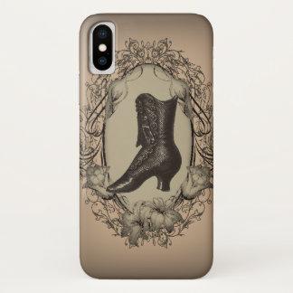 Coque iPhone X Steampunk victorien vintage parisien de chaussure