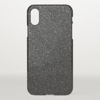 Coque iPhone X Style en pierre noir moderne - l'espace