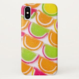 Coque iPhone X Sucrerie différente colorée de gelée