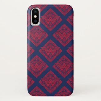 Coque iPhone X Symbole amazonien de femme de merveille