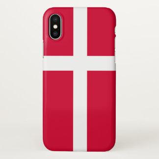 Coque iPhone X Symbole de drapeau de pays du Danemark longtemps