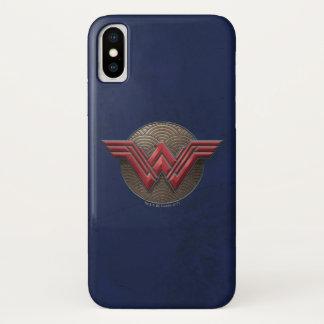 Coque iPhone X Symbole de femme de merveille au-dessus des