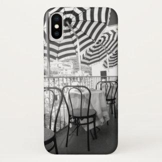 Coque iPhone X Tableaux noirs et blancs de restaurant