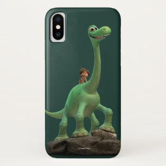 Coque iPhone X Tache et Arlo sur la roche