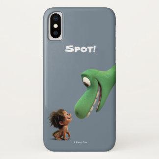 Coque iPhone X Tache et plan rapproché d'Arlo