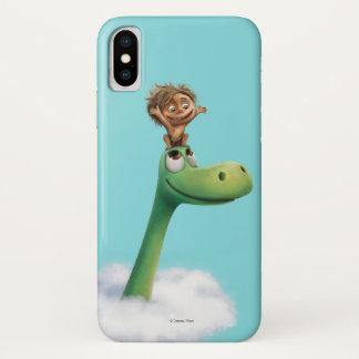 Coque iPhone X Tache et tête d'Arlo en nuages