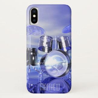 Coque iPhone X Tambours personnalisés sur le cas de l'iPhone X de