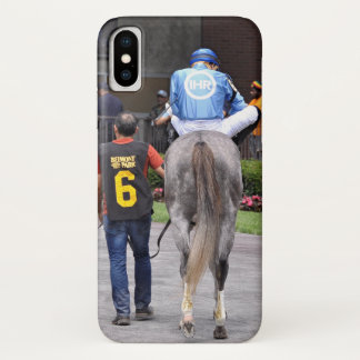Coque iPhone X Tapceptional - course de chevaux de fer
