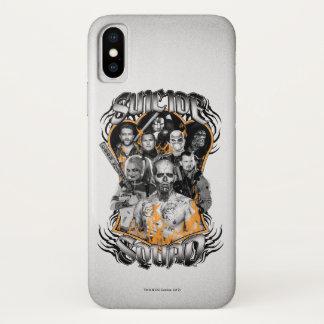 Coque iPhone X Tatouage tribal du groupe de travail X du peloton