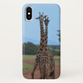 Coque iPhone X Téléphone de girafe