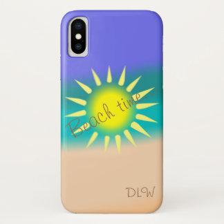 Coque iPhone X Temps de plage de soleil