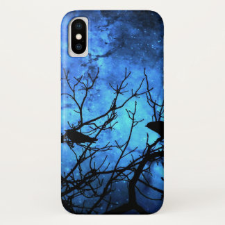Coque iPhone X Tentative de meurtre : Corneilles, cieux bleus
