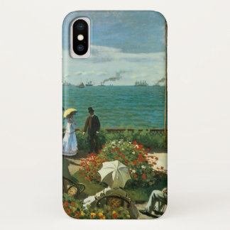 Coque iPhone X Terrasse au bord de la mer par Claude Monet